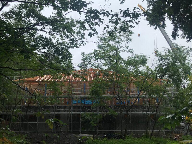 軽井沢 住宅 混構造 上棟