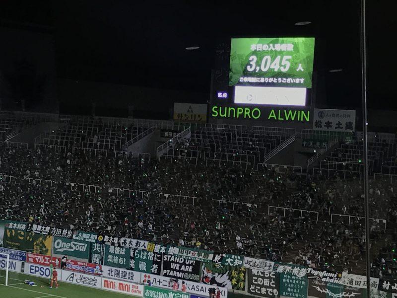 松本山雅 vs 北九州 2020.8.2