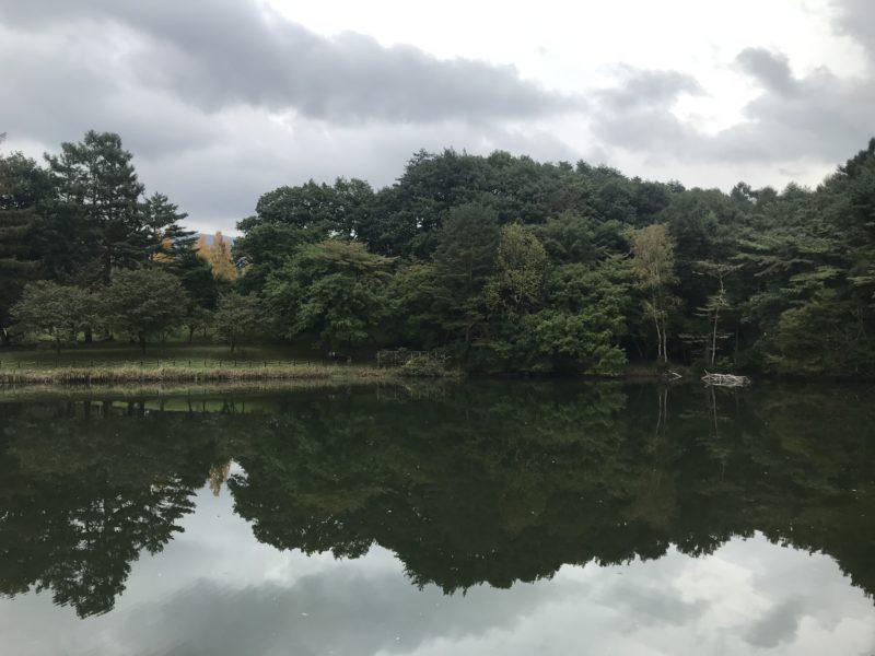 茅野市 岳麓公園「夕映えの池」
