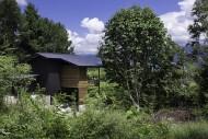 八ヶ岳を一望する家