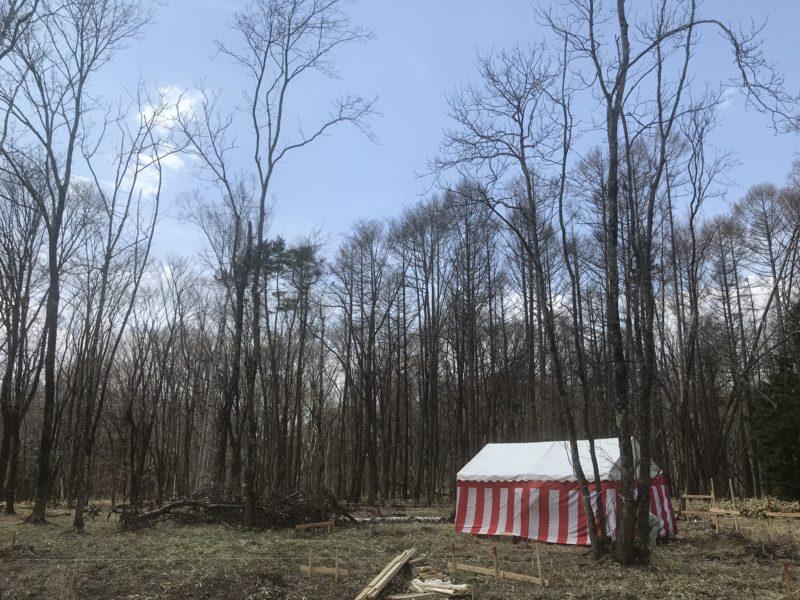 地鎮祭「山の家:静と動の同居」原村の別荘