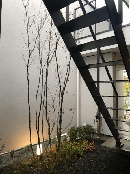 中庭 街角のコートハウス 松本市