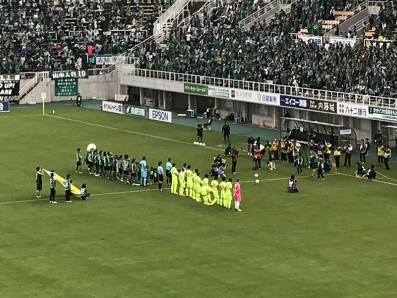 御嶽海のキックオフセレモニー 松本山雅vs千葉 6月23日