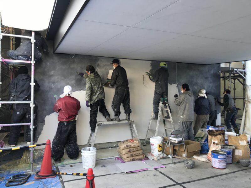 左官塗り仕上げ 松本市の住宅