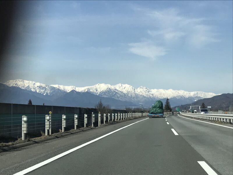 松本から見る北アルプス 2021.3.7