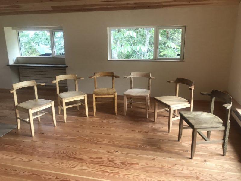 椅子 6脚6樹種