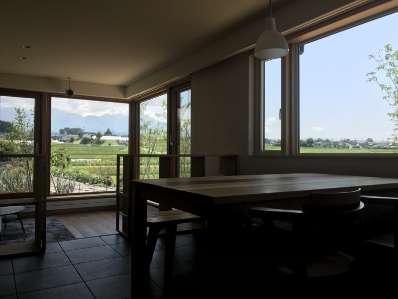 茅野市の住宅 八ヶ岳連峰を望む家
