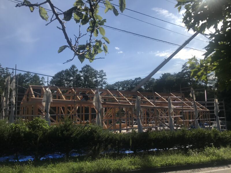 建て方 末広がりの家 原村