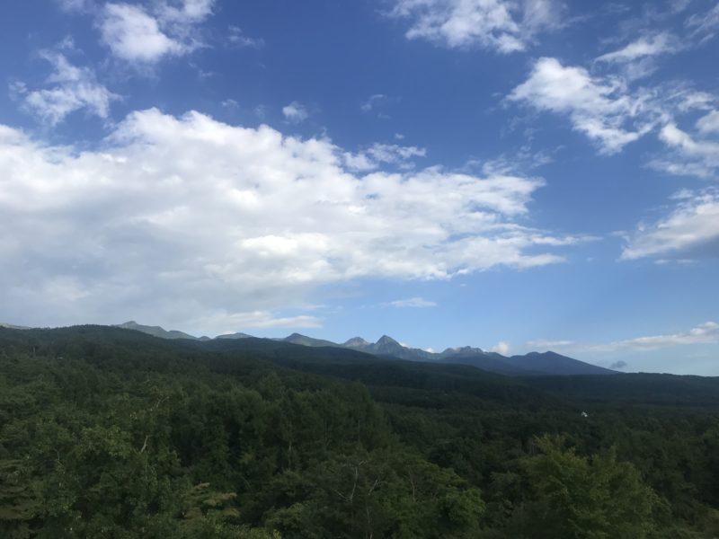 八ヶ岳が見える敷地