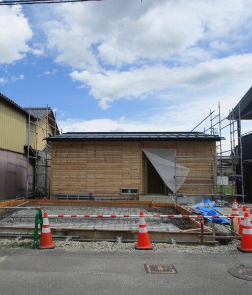 ガレージの基礎工事 松本市