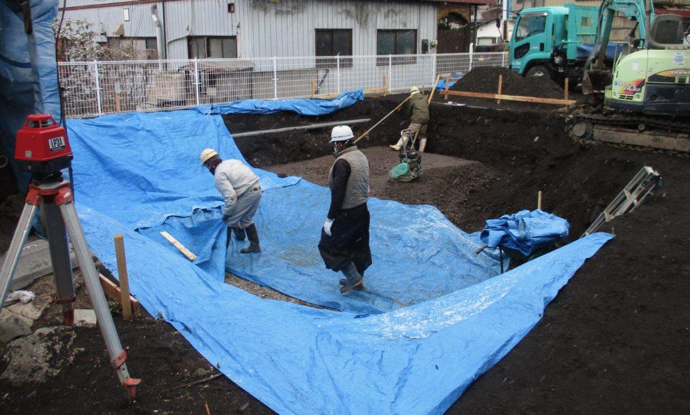 基礎工事 群馬県嬬恋村