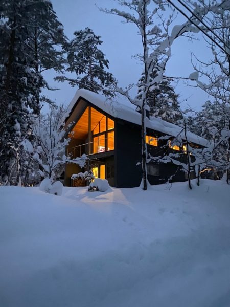 冬の白馬村 別荘設計