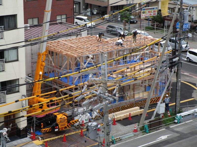上棟 街角のコートハウス 松本市