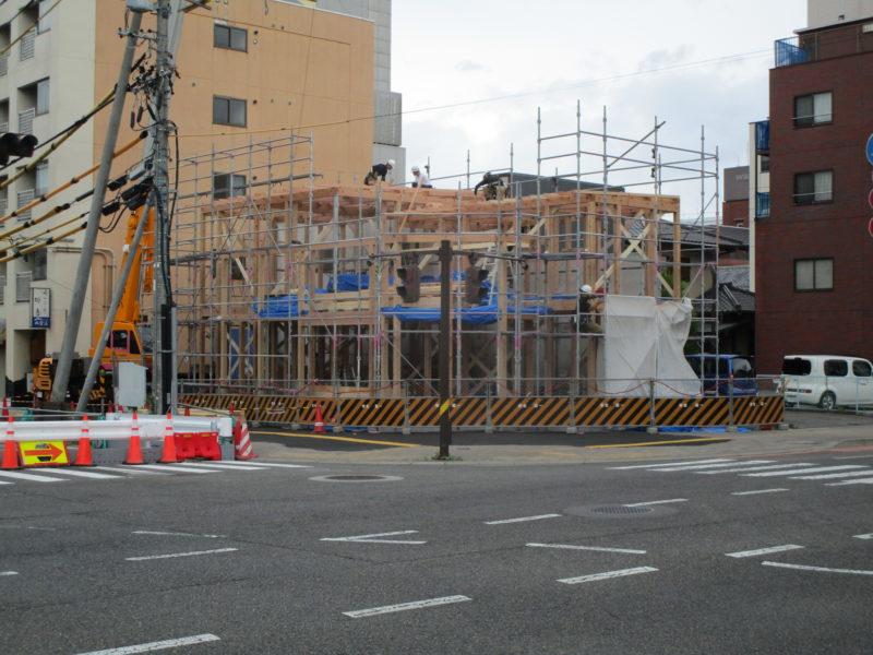 建て方 街角のコートハウス 松本市