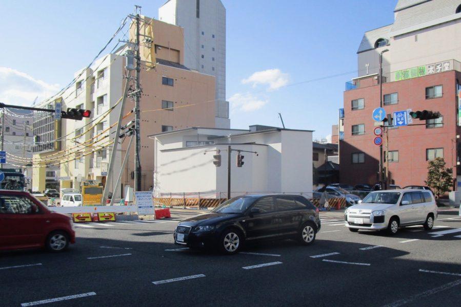 街角のコートハウス 松本市 中庭