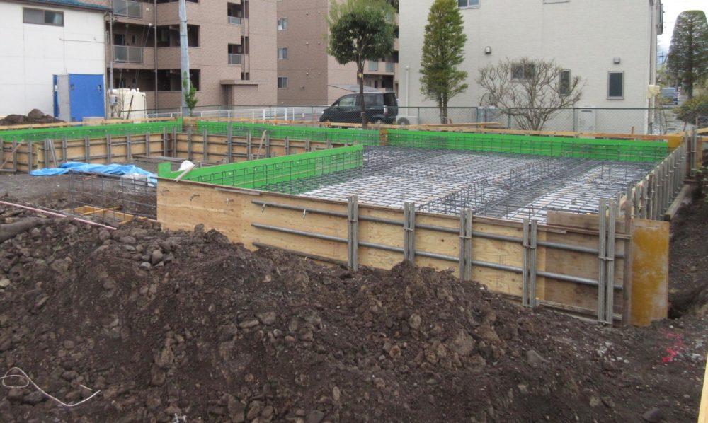 岡谷市 コートハウス 基礎工事
