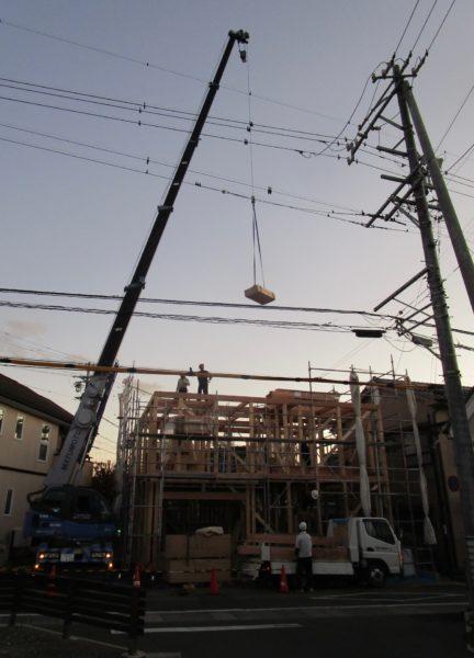 建て方 「通り土間の家」松本市