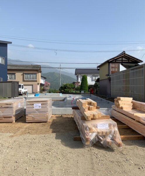 基礎工事完了 松本市のコートハウス