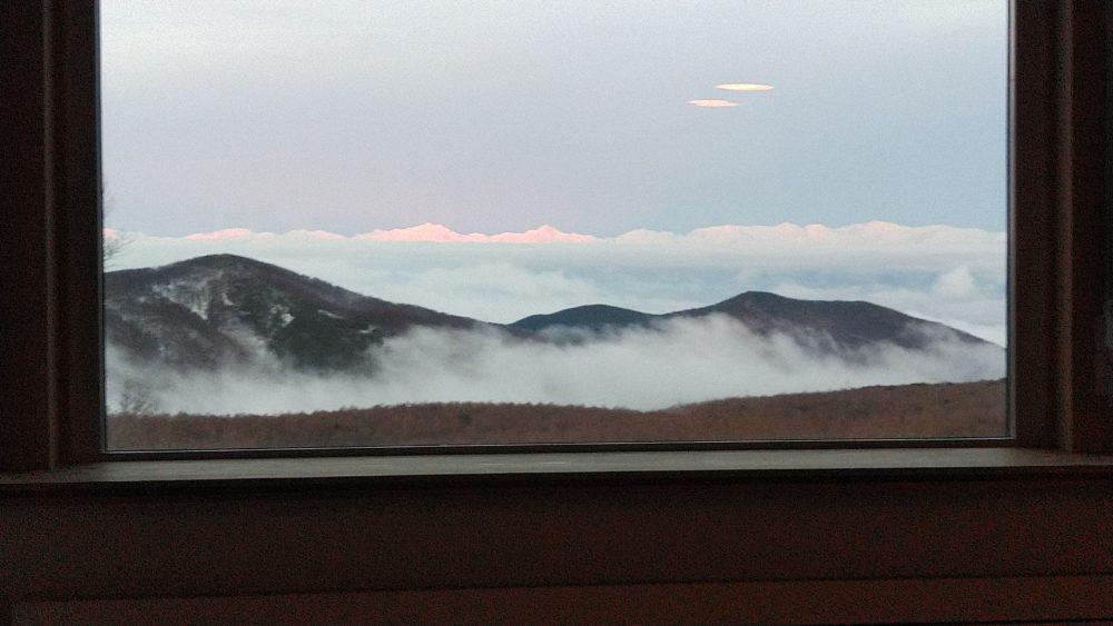峰の原高原の雲海 別荘から見える
