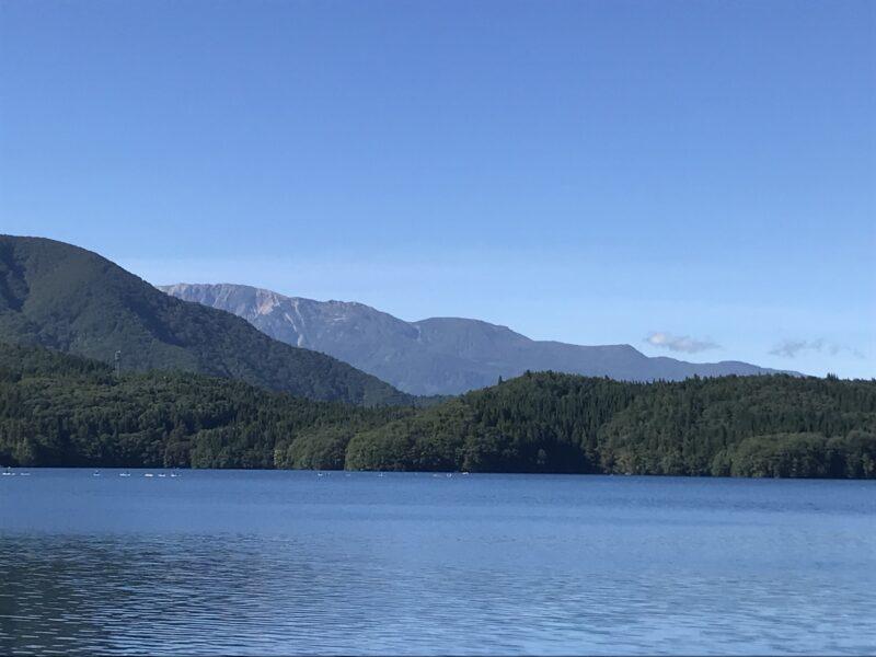青木湖から見える北アルプス 2021.9.19