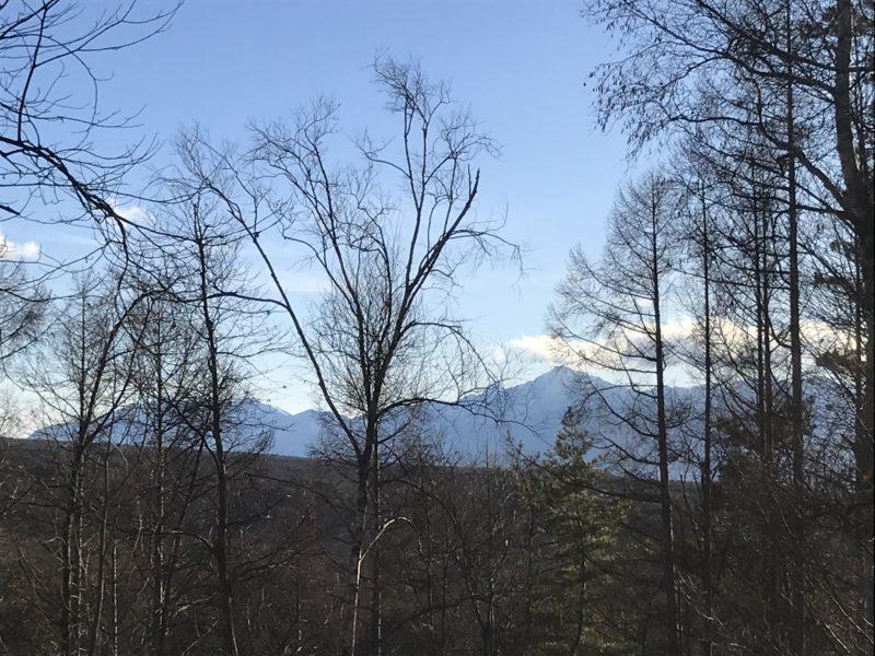 蓼科のアトリエから見える風景