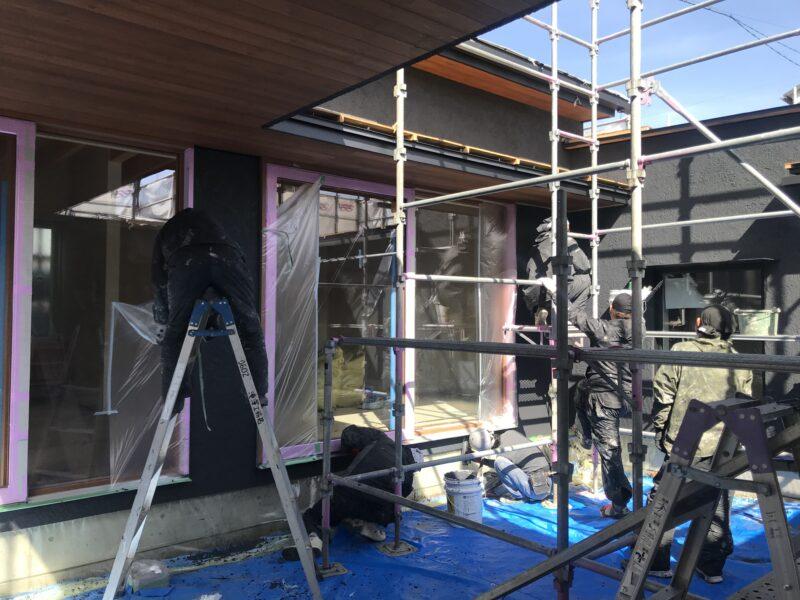 外壁の左官塗り仕上げ 松本市