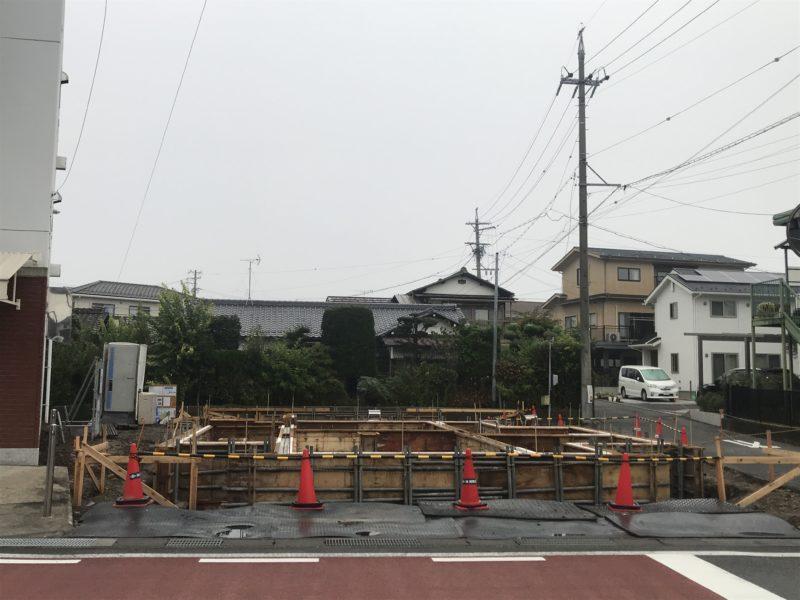 基礎工事 対角にひらく家 松本市