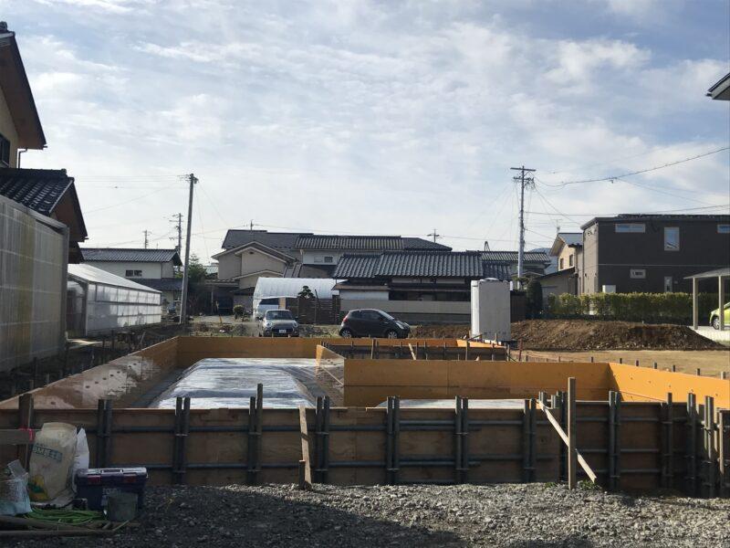 基礎工事 平屋のコートハウス 松本市