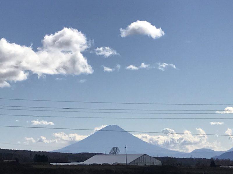 富士見町から見える「富士山」