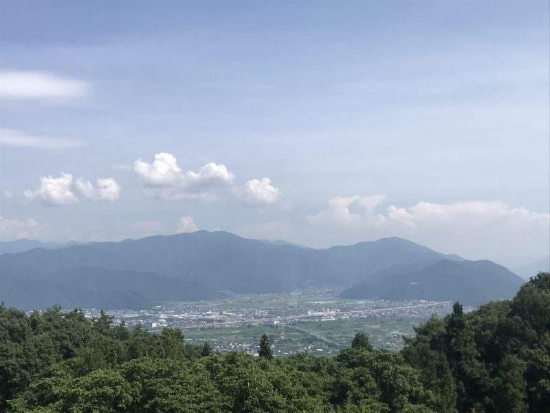 長野市の敷地から見える景色