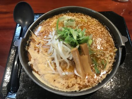 今日のお昼 焼き味噌ラーメン 茅野市「麺屋蔵人」